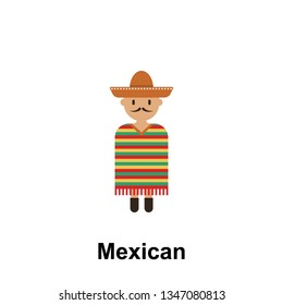 Mexican, man cartoon icon. Element of People around the world color icon. Premium quality graphic design icon. Signs and symbols collection icon for websites, web design