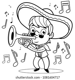 Mexican Coloring Pages Images Stock Photos Vectors