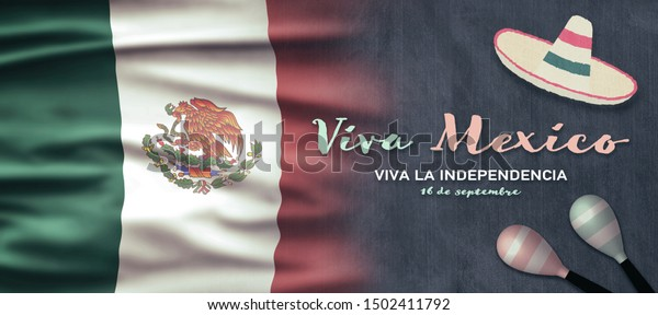 Mexican National Holiday Mexican Flag Background Stock Image