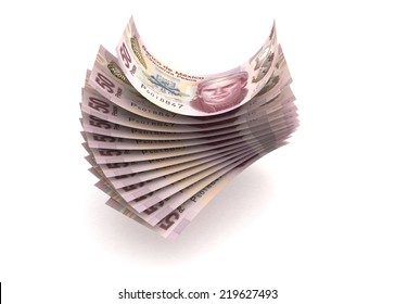 Mexican Pesos (isolated with clipping path)