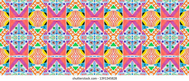 Mexican seamless pattern. Ethnic ornament. Tribal stripes texture. Aztec print. Ikat pattern. Folk background. African rug.