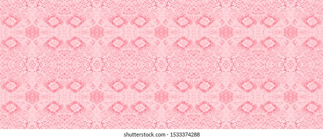 Mexican Seamless Print. Pink Mayan Seamless Pattern. Milky Indian Motif. Bittersweet Folk Background. Navajo Ornament. Bleached Mexican Seamless Print.