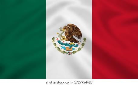 Mexico flag 3d illustration waving