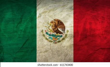 Mexiko-Flagge auf Papier