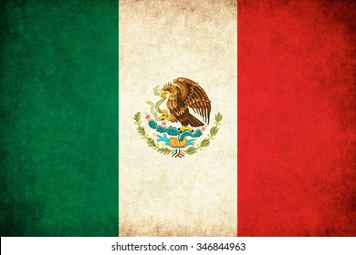 Mexico grunge flag background illustration of country