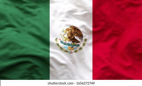 Mexico national Flag textile cloth fabric waving