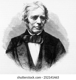Michael Faraday (1791-1867), discoverer of electromagnetic induction (1831) and formulator of Faraday's Law (1834)