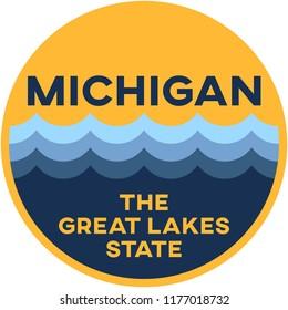michigan: the great lakes state | digital badge