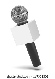 microphone with copy space box