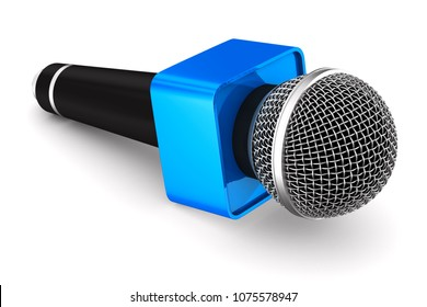 microphone on white background. Isolated 3D illustration