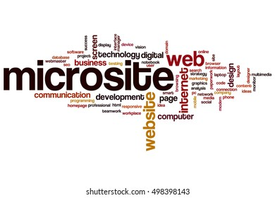Microsite word cloud concept