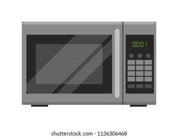 Microwave. Flat design.