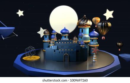 Mid-Autumn Festival 3D image