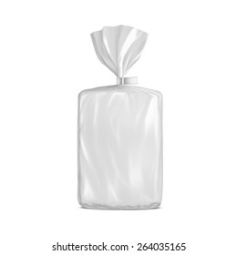 Middle Plastic Bag With Clip For Bread