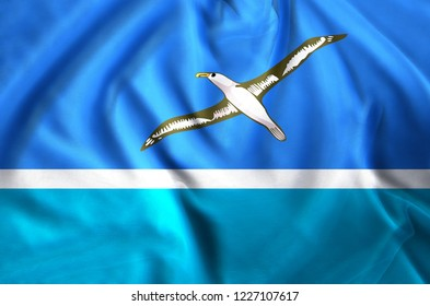 Midway Islands modern and realistic closeup flag illustration. Perfect for background or texture purposes.