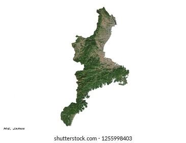 Mie, Japan Map (3D illustration)