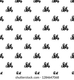 Migrant family leave home pattern seamless repeat for any web design