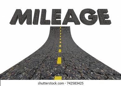Mileage Transportation Road Fuel Efficient Driving Better Travel 3d Illustration