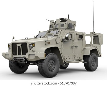 Military all terrain tactical vehicle - 3D Illustration