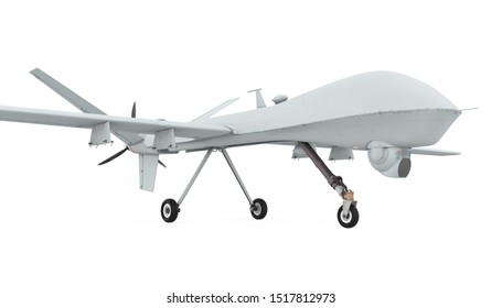 Military Drone Isolated. 3D rendering