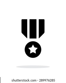 Military medal simple icon on white background.
