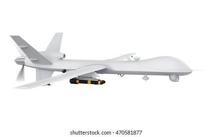 Military Predator Drone. 3D rendering