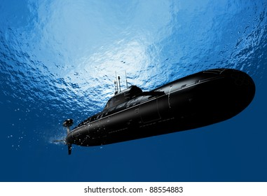 The military ship in the sea