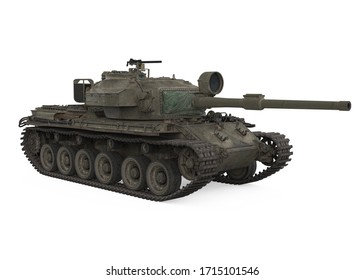 Military Tank Isolated. 3D rendering