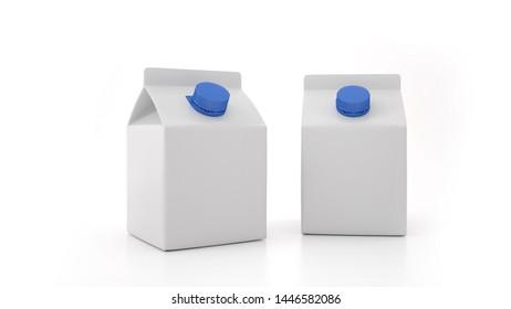 Milk Bottle Mock-Up. Blank Label.3D illustration