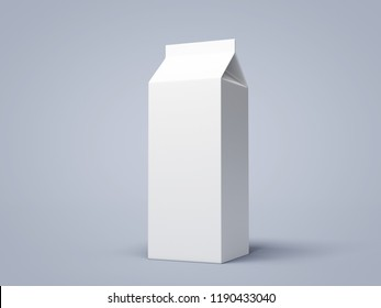 Milk Carton Pack. 3D rendering