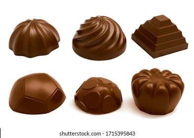 Milk chocolate molds. 3D Rendering