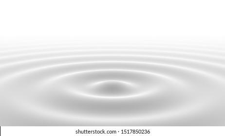 Milch oder Creme Flüssigkeit. 3D-Illustration.