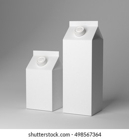 Milk packaging mockup 3D rendering