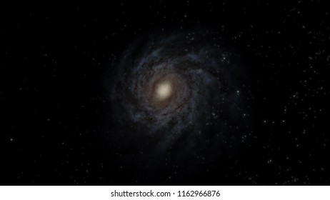 The Milky Way Galaxy 3D illustration (Elements of this image furnished by NASA)