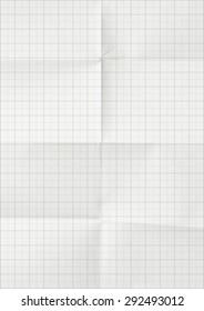 Millimeter graph white paper background.