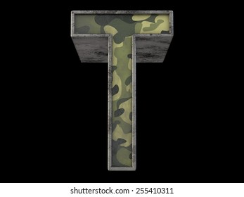 the millitary font T