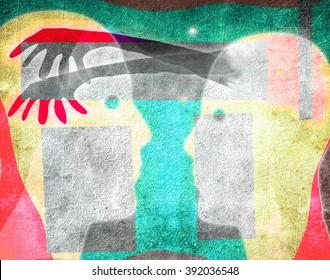 mind manipulation concept digital illustration