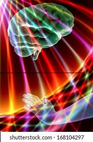 Mind over matter creative illustration