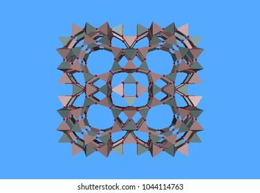 mineralogy molecules 3D rendering