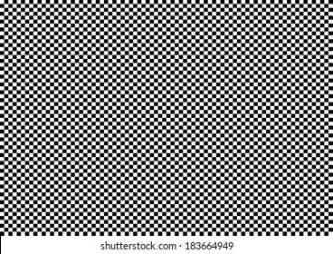 Miniature Black and White Squares