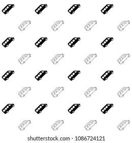 Minibus seamless pattern