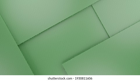 Minimal abstract background for branding and product presentation. Green geometric background. 3d rendering illustration.