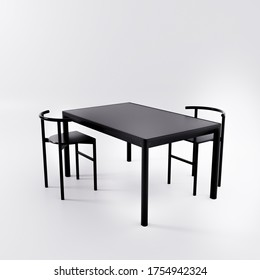 Minimal Dining Table Studio Render, 3d render, 3d illustration