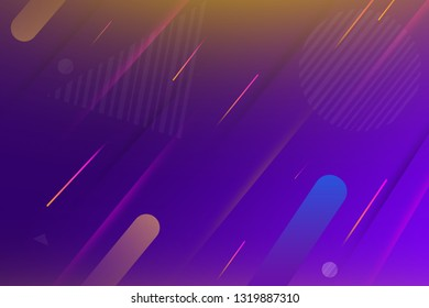 Minimal Geometric Background with Latest Dynamic Shapes, copy space banner.
