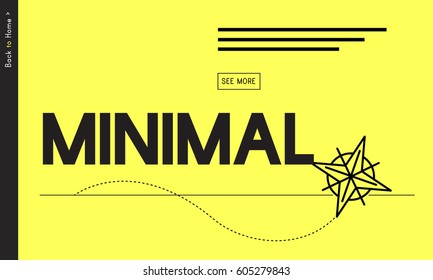 Minimal Minimum Icon Symbol Yellow