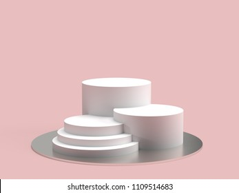 Minimal product display stand - 3d Rendering