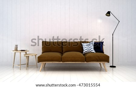 Minimal Sofa Living Area Concept Design