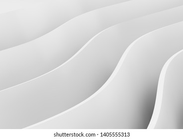 minimal wavy background 3d rendering