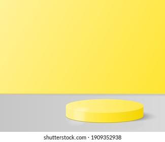 Minimalism abstract background, pedestal. Studio background. 3d rendering