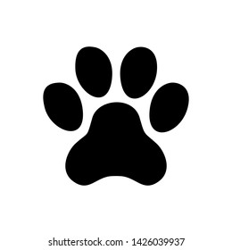 minimalist and clean paw design.